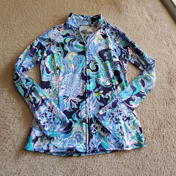 Lilly Pulitzer Jackets & Blazers - Lilly Pulitzer Luxletic Zipup